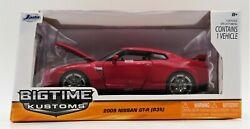 Jada Toys Big Time Kustoms 124 Scale 2009 Nissan Gt-r R35 Car Red Vehicle