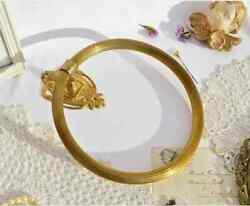 Collectibles Vintage Old Towel Holder Ring Bathroom Accessories Wall Brass Italy
