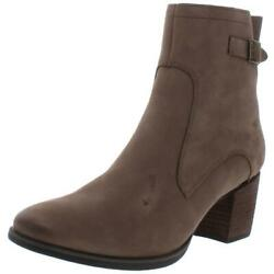 Aetrex Womens Rubi Taupe Leather Ankle Boots Shoes 10 Medium B,m Bhfo 9041