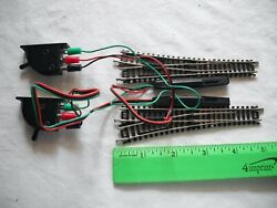 Lot Of Atlas 2550 Left Lh And 2551 Right Rh, Remote Switch Track, N Scale