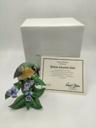 Lenox Bird Figurine Yellow Breasted Chat Fine Porcelain 1996 W/ Box And Coa