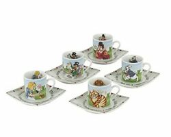 Cardew Design Alice In Wonderland Porcelain 3-ounce Tea Party Cup And Saucer Set