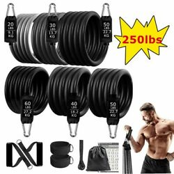 Resistance Bands Set Workout Gym Pull Rope Latex Tube Sports Equipment 250lbs