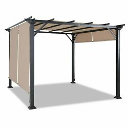 10and039x10and039 Pergola Kit Metal Frame Gazebo And Canopy Cover Patio Furniture Shelter