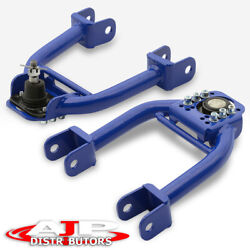 Blue Adjustable Front Upper Control Arms Camber Kit For 1994-2001 Acura Integra