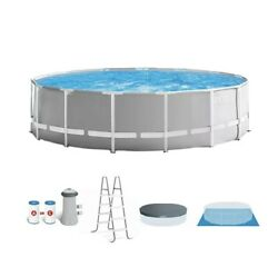 New Intex 15ft X 48in Prism Above Ground Swimming Pool Set With Ladder And Cover