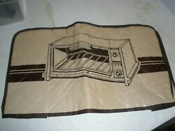 Vintage Never Used Brown Tan Toaster Oven Vinyl Cover