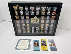 Nfl Super Bowl Pin Collection And Case Limited Edition Coa Bradford Exchange