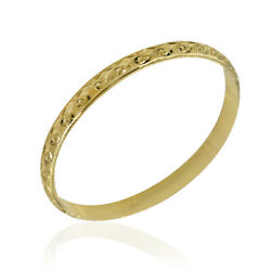 7.1mm Carved Bangle Bracelet In 20k Yellow Gold