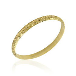 7.0mm Carved Bangle Bracelet In 20k Yellow Gold