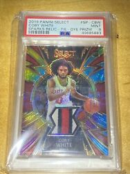 2019-20 Select Coby White Tie-dye Prizm 3 Color Rookie Patch Ssp Rc /25 Psa 9