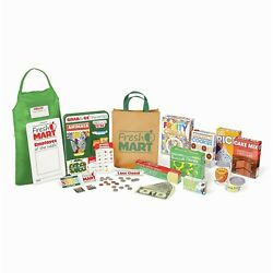 Melissa And Doug Fresh Mart Grocery Store Play Food And Role Play Companion Set