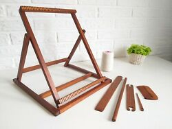 Large Weaving Loom Kit Stand Tapestry Loom Includes Warp and Tools Handmade