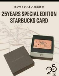 Starbucks Card 2021 Limited Edition 25years 25th Anniversary From Japan