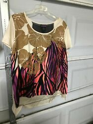 Plus Ladies Casual Top  New W Tags  Size 2x