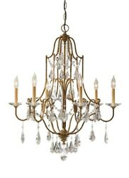 Valentina - Chandelier 6 Light Steel In Crystals Style - 28.5 Inches Wide By
