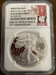 End Of World War Ii 75th Anniversary Silver Coin Ngc Pf69
