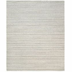 12and0393x15and039 Natural Wool Gray Hand Loomed Plain Modern Design Oversized Rug R63049