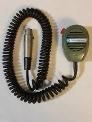 Vintage Shure Brothers Mobilpage Cm14k Ranger Ham Radio Cb Mic Microphone As-is