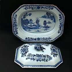 Antique Chinese Export Porcelain Tureen, 1800s