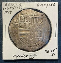 Bolivia - Potosi Nd 1605-13p.r 8 Reales....26.75 Gr...colonial