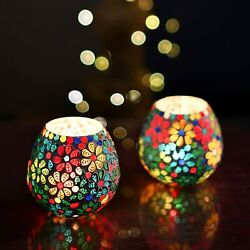 Tea Light Candle Holder For Home Decoration Home Room Decor Items X2