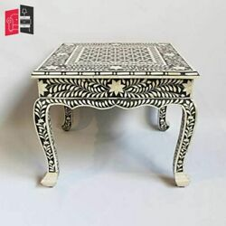 Bone Inlay Living Room Furniture Black And White Bedside Table Made To Order