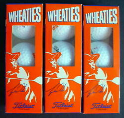 New Nine Tiger Woods Titleist Wheaties Cereal 9 Golf Balls 3 Boxes Vintage 1999