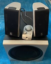 Logitech Z-2300 Computer Speakers With Original Controller - Tested