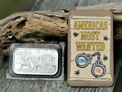 Cmg 2017 'john Dillinger' Americas Most Wanted 1 Oz .999 Silver Bar Amw 72/500
