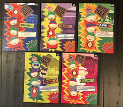 South Park Dvd Lot Seasons 1-5 Tv Show Comedy Adult Animation In Cases 1997 1998