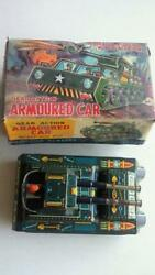 With Box Tin Toy Tank Det Stock At The Time