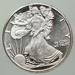 United States Us Silver Walking Liberty Half Ounce Coin Bald Eagle Medal I93033
