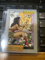 Dc Comics Card Hero Heritage Wonder Woman Card Mt Condition With Top Loader