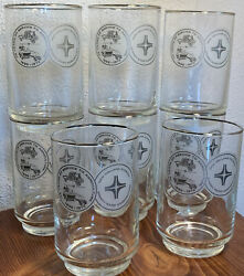 Set Of 8 New Holland Division Sperry Rand Corp Glasses 75 Years Of Agriculture