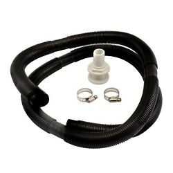1-1/8 Inch Hose Bilge Pump Installation Kit For Boats - Hose Thru Hull And Clamps