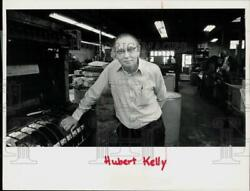 1984 Press Photo Hubert Kelly, General Manager Of The Gorham Press - Ctaa24577