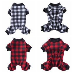 Pet Dog Pajamas Soft Comfortable Warm Jumpsuit Cute Costume Clothes For Puppy $8.77