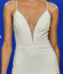 Theia Lola Wedding Gown - Ivory - Size 4 - Sample Dress - Never Worn - 5and0398 Hem