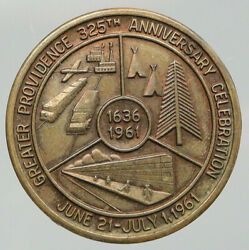 1961 United States Us City Of Providence Rhode Island 325th Vintage Medal I92696