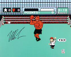 Mike Tyson Autographed Signed 16x20 Photo Punch-out In Black Beckett 180900
