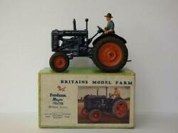 Britains Vintage 1948 Boxed Lead 128f Fordson Major Farm Tractor Rubber Tyres