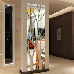3d Mirror Tile Wall Sticker Removable Self Adhesive For Home Stick On Art Decor