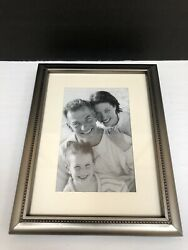 """Fetco Home Décor 3 1 2"""" x 5 1 2"""" Picture Frame Metal Silver Tone New"""