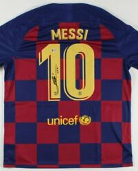 Lionel Messi Autographed Jersey Classic Soccer Football Shirt 10 Certified