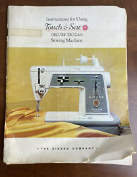 Instruction Book Singer Touch And Sew Sewing Machine 600e