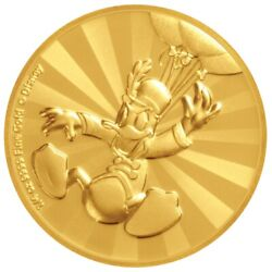 Mickey And Friends Donald Duck Carnival 1/4 Oz Gold Coinmintage Just 100 Pieces