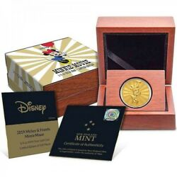 Mickey And Friends Minnie Mouse Carnival 1/4 Oz Gold Coin 2019