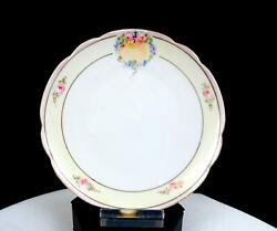 Hutschenreuther Selb Lhs Pastel Pink Yellow Rose Floral 6 Side Plate 1939-65