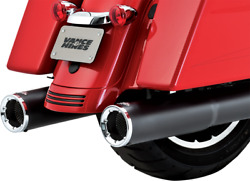 Vance And Hines 4 1/2in Black Hi-output Slip-on Mufflers 46463